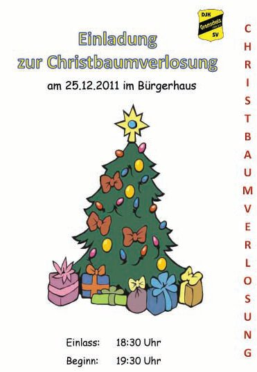 Christbaumverlosung